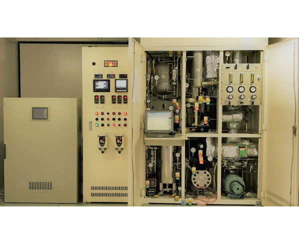 MCHから水素を取り出し需要先に供給する装置