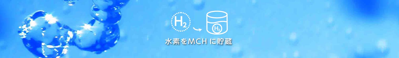 水素をMCH に貯蔵